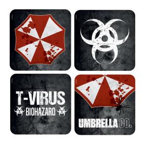 Resident Evil 3D Untersetzer 4-er Umbrella