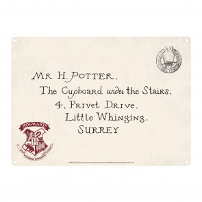 Harry Potter Blechschild Letters 21 x 15 cm