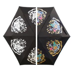 Harry Potter Regenschirm mit Farbwechseleffekt Hogwarts Slogan