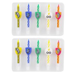 Harry Potter Kuchenkerzen 10er-Pack Logos