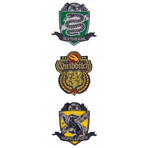 Harry Potter Aufnäher 3er-Pack Deluxe Quidditch Hogwarts