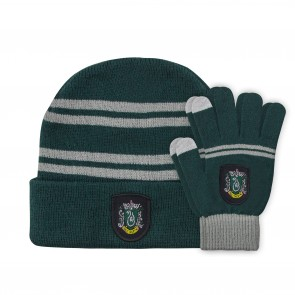 Harry Potter Kids Beanie & Handschuhe Set Slytherin