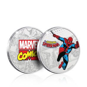 Marvel Sammelmünze Spider-Man (versilbert)