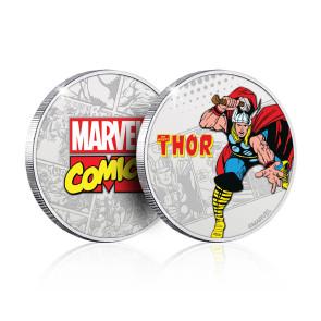 Marvel Sammelmünze Thor (versilbert)