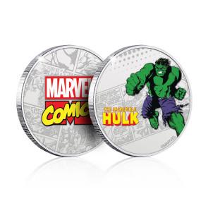 Marvel Sammelmünze Hulk (versilbert)