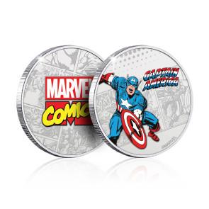 Marvel Sammelmünze Captain America (versilbert)