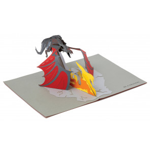 Game of Thrones 3D Pop-Up Grußkarte Dragon