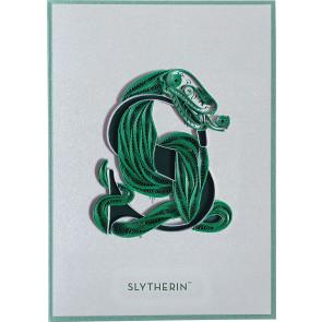 Harry Potter Qulilling Grußkarte Slytherin