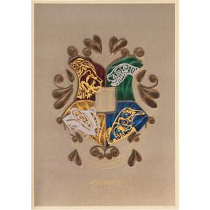 Harry Potter Qulilling Grußkarte Hogwarts