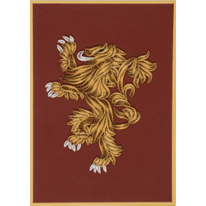 Game of Thrones Qulilling Grußkarte House Lannister