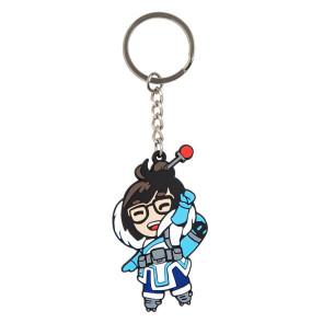 Overwatch Mei Gummi-Schlüsselanhänger 4 cm