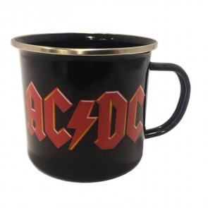 AC/DC Emaille Becher Logo