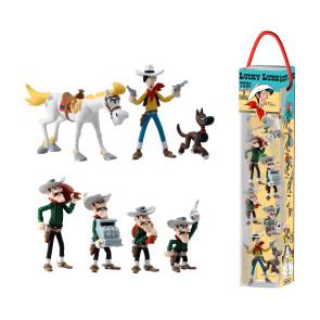 Lucky Luke Minifiguren 7er-Set Characters 4 - 10 cm