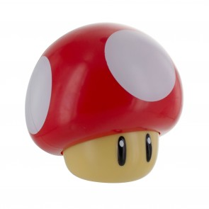 Super Mario Lampe mit Soundfunktion Power-Up Pilz 12 cm