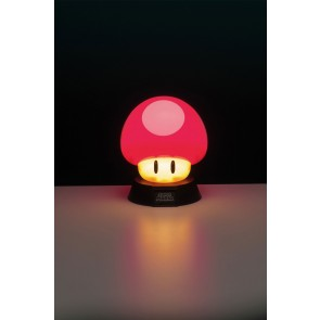 Super Mario 3D Lampe Power-Up Pilz 10 cm
