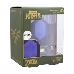 The Legend of Zelda 3D Icon Lampe Blue Rupee 10 cm