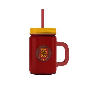 Harry Potter Mason Jar Glas Gryffindor Logo