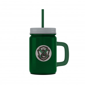 Harry Potter Mason Jar Glas Slytherin Logo
