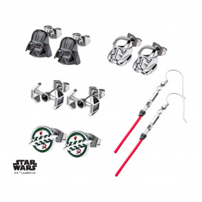 Star Wars Edelstahl-Ohrringe 6er-Pack Galactic Empire