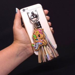 Tokidoki USB Ladekabel 3in1 mit Schlüsselanhänger Glitter Tassel