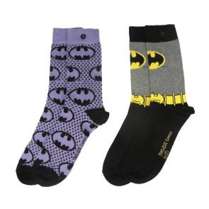 DC Comics Damen Socken Doppelpack Batman Purple