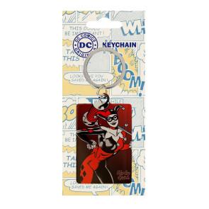 DC Comics Metall Schlüsselanhänger Harley Quinn 6 cm