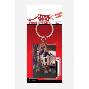Star Wars Episode VIII Metall Schlüsselanhänger R2-D2 & Porgs 6 cm