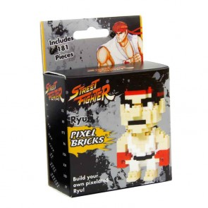 Street Fighter Ryu Pixel Bricks Retro Figur