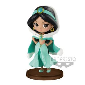 Disney Q Posket Petit Girls Festival Minifigur Jasmin Winter Costume 7 cm