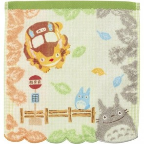 Mein Nachbar Totoro Mini-Handtuch Totoro & Bus Stop 25 x 25 cm