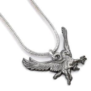 Phantastische Tierwesen Halskette & Anhänger Seidenschnabel (versilbert)