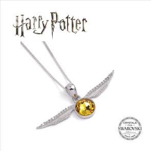 Harry Potter x Swarovksi Halskette & Anhänger Goldener Schnatz