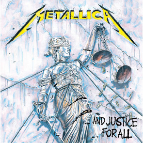 Metallica Leinwandbild im Holzrahmen Justice for All 40 x 40 cm