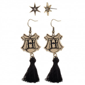 Harry Potter Edelstahl-Ohrringe 2er-Pack Hogwarts Tassle