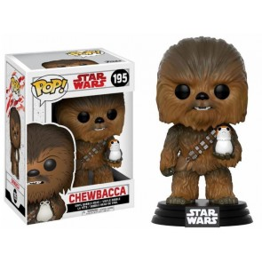 Star Wars VIII Chewbacca & Porg POP! Figur 9 cm