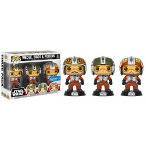 Star Wars Wedge, Biggs & Porkins POP! Figuren 9 cm