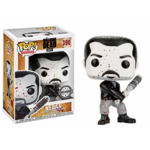 Walking Dead Negan POP! Figur Bloody Black & White 9 cm