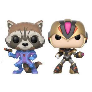 Marvel vs. Capcom Infinite Rocket vs. MegaMan X POP! Figuren 9 cm