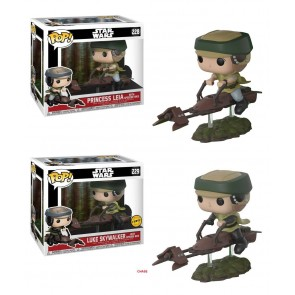 Star Wars Leia POP! Figur Speeder Bike 10 cm