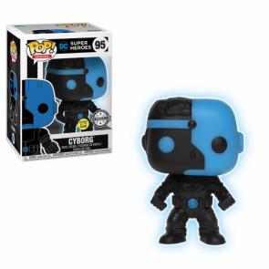 Justice League Movie Cyborg Silhouette POP! Figur Glow in the Dark 9 cm