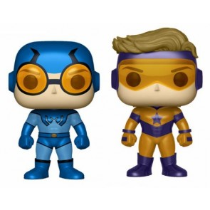 DC Super Heroes Blue Beetle & Booster Gold Metallic POP! Figuren Doppelpack 9 cm