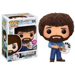 The Joy of Painting Bob Ross POP! Figur Flocked 9 cm