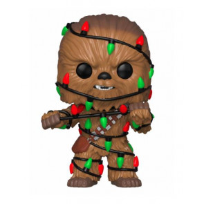 Star Wars Holiday Chewbacca with Lights POP! Figur 9 cm