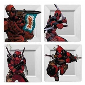 Marvel Teller 4er-Pack Deadpool BANG!