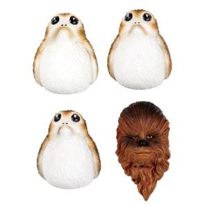 Star Wars Episode VIII Magnete Set Chewbacca & Porgs