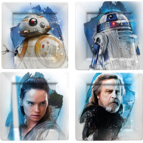 Star Wars Episode VIII Teller 4er-Pack The Resistance