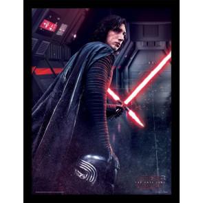 Star Wars Episode VIII Poster im Rahmen Kylo Ren Rage 45 x 33 cm