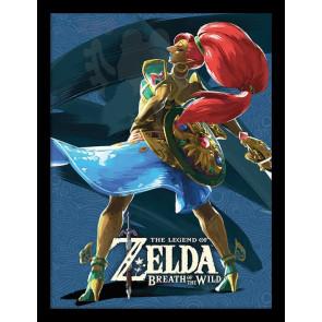Legend of Zelda Breath of the Wild Poster im Rahmen Divine Beast Vah Nabori 45 x 33 cm