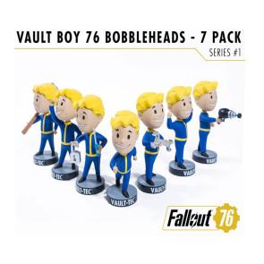 Fallout 76 Vault-Tec 7er- Pack Vault Boys Serie 1 Wackelkopf-Figuren 13 cm