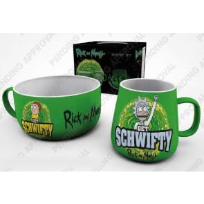 Rick and Morty Frühstücks-Set Get Schwifty